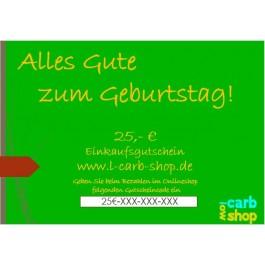 Geschenkgutschein: 25 €
