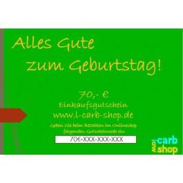 Geschenkgutschein: 70 €